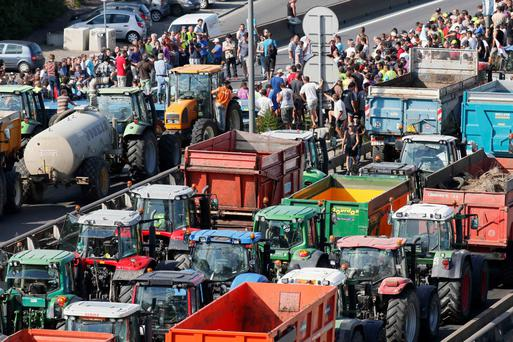 Inimitable militant French style: French farmers protest