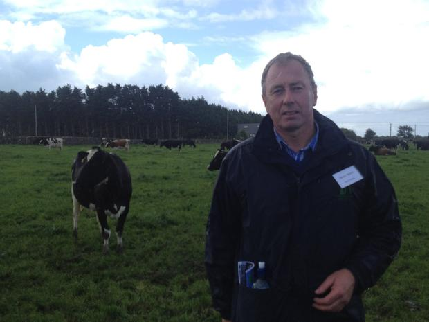 Track record: Henry Walsh has gone from milking 50 cows with 230,000 litre of quota in 1996 to 250 cows and 1.2m litres this year