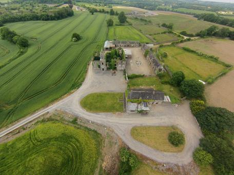 Aerial view of Ballygiblin, which consists of 140ac of quality land, currently mostly in tillage.