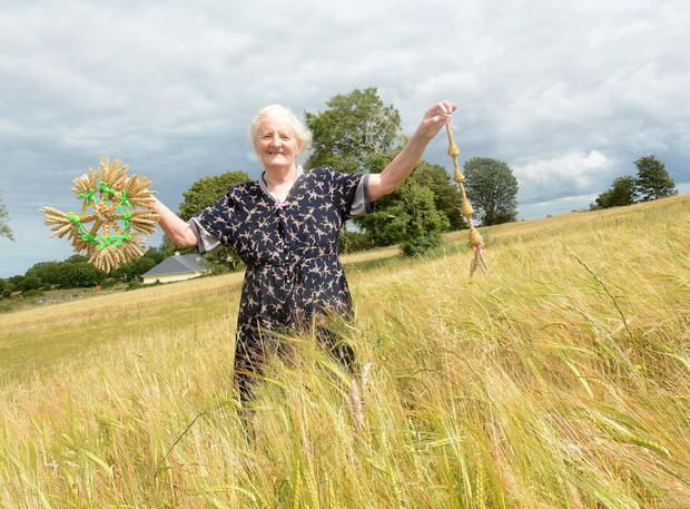 Former teacher Margaret Ann Millet from Castlerea, Co Roscommon has been making corn dollies since her youth.