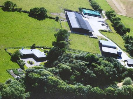 Aerial view of farm in Taghmon, Wexford