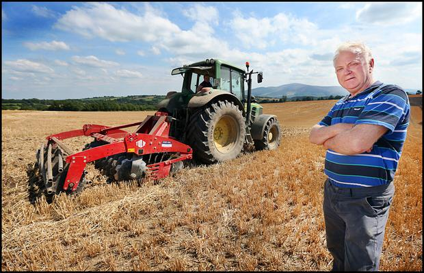 Tipp top: Tillage farmer of the year Noel Delany pictured on his farm in Fethard, Co Tipperary. Photo: Steve Humphreys.