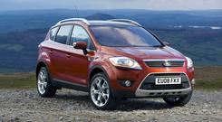 The Ford Kuga can now be bought with AWD to give improved traction and grip on poor roads and in muddy and icy conditions
