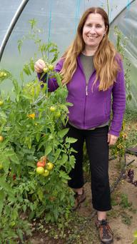 Organic vegetable and fruit grower Grace Maher from Nurney, Co Carlow