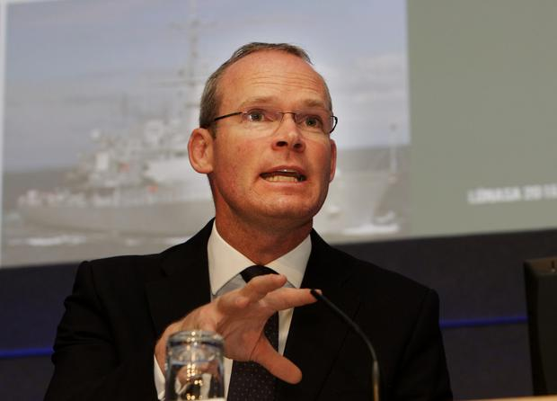 Defense Minister Simon Coveney