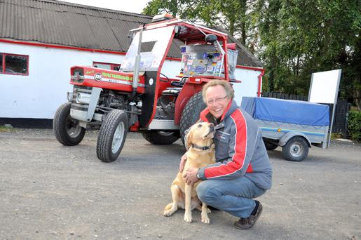 Retired police officer Peter Matheson spent two months driving around Ireland on a 1974 Massey Ferguson 135
