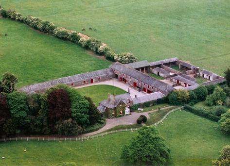 An aerial view of Claremount farm, Co Westmeath which sold for €3.5 at auction last week
