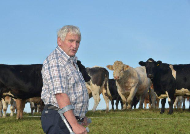 Tony Conway on his farm in Newtownstewart, Co Tyrone.