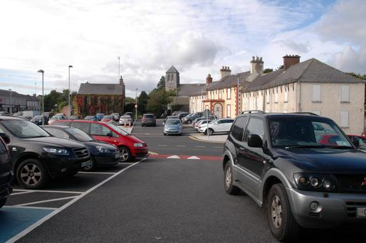 Chock-a-block in Kilcock: Parking space is at a premium in the Kildare town