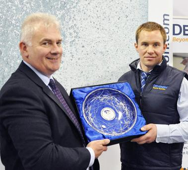 Morgan Sheehy Davenish Nutrition director and Jack Hogan, company nutritionist, were presented with the 2015 Dairy Innovation Award