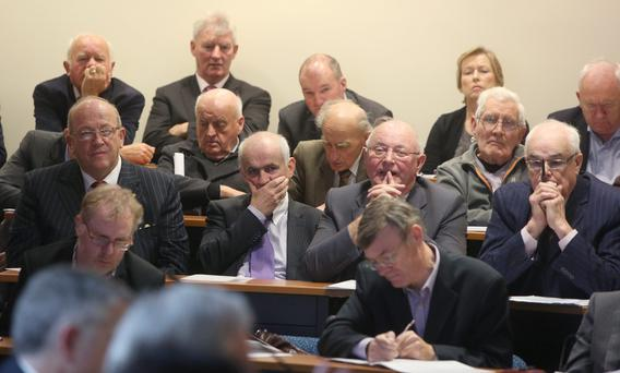 Eddie Downey, President IFA and fellow shareholders at last week's FBD extraordinary meeting.
