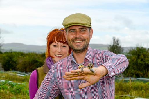 Katherine Cocollos and her husband Richie run a snail farm in Kinvara, Co Galway.