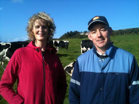 Joe Daly with Helen Carroll from RTE's Ear to the Ground programme