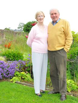 Donal Murphy at home with his wife Agatha