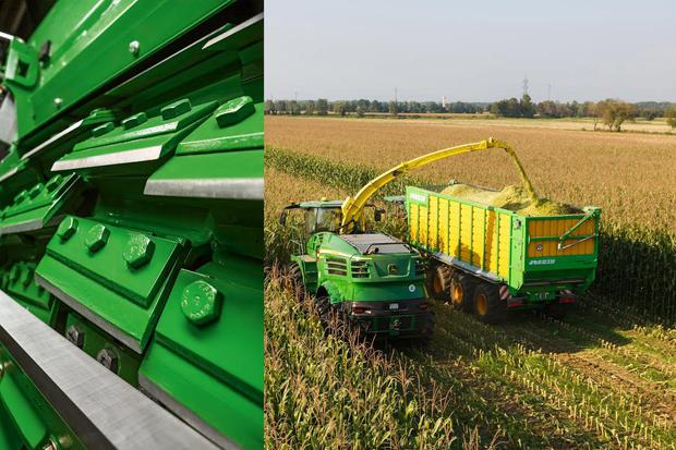 John Deere's 'ProCut' won a gold medal for a system that controls the gap between the knives and the counter blade on a self propelled forage harvester