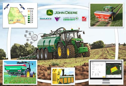 JD nutrient management.jpg; Connected Nutrient Management enables demand-oriented, precise application of organic and chemical N and P fertilizers