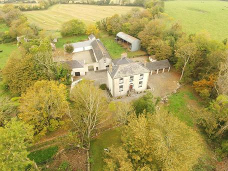 Ballycogley Castle consists of a Georgian residence and extensive outbuildings on 77ac