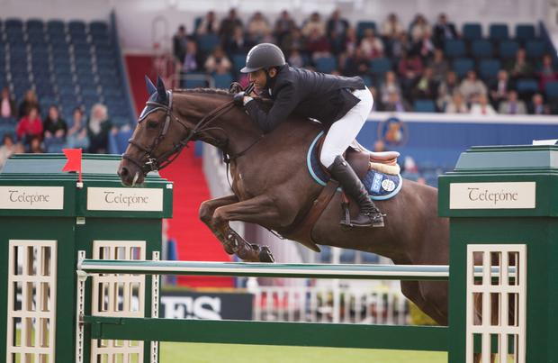 Suma's Zorro in action at the Dublin Horse Show in August with Egyptian rider Sameh el Dahan.