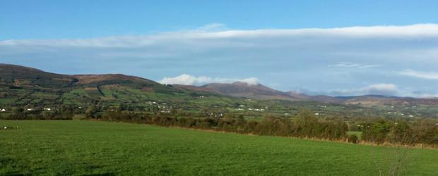 A view towards the Galtee Mountains from the property which includes a registered 144ac commonage share which is delivering over €34,000 per annum in farm payments
