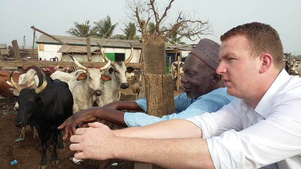 Andrew Agnew from Castlebellingham works as a sales and logistics rep for AgraKepak in Ghana