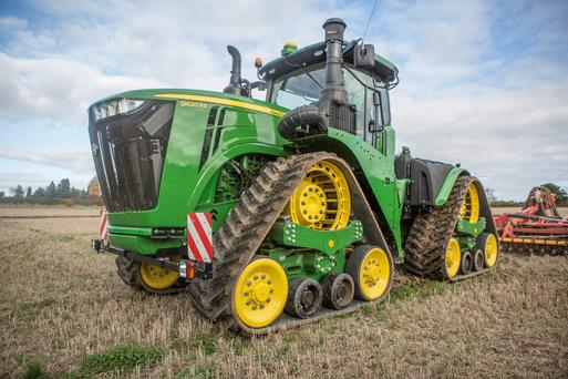 John Deere's largest rated tractor, the 570hp 9670RT