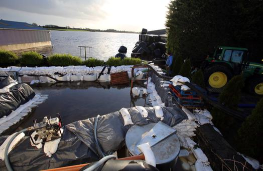 Flood damage at Martin McInerney's farmyard and silage pit in Cahermore, south Galway. Picture: Hany Marzouk