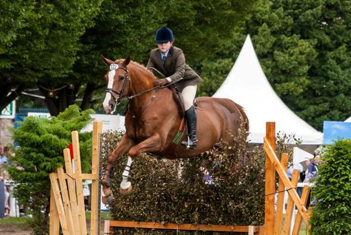 Deborah Freeland and Diamond Chancer in action at the Dublin Horse Show in 2012. Photo: Toni Haberland.