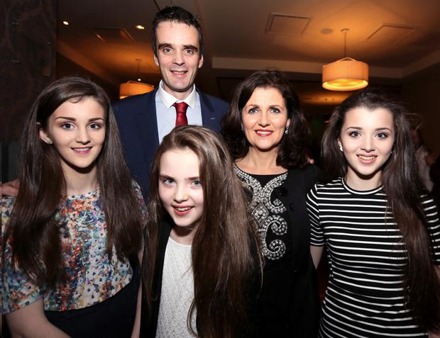 IFA presidential candidate Joe Healy pictured with his wife Margaret and daughters Kiara, Anna and Nicole at the official launch of his campaign in Athenry last weekend. Photo: Eirefoto