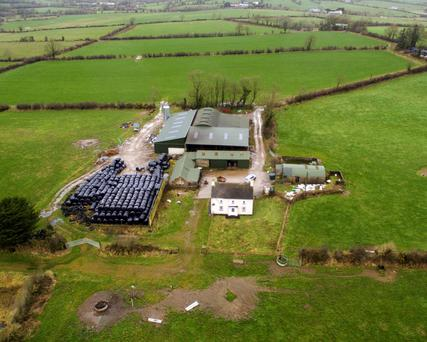 The farm buildings at the holding in Liscarroll are top of the range units and include three slatted sheds, one of them a 48-unit cubicle house.
