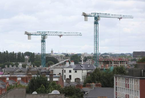 Cranes have begun to appear on the Dublin skyline again as the economy recovers