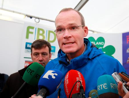 Mr Coveney expressed fury over the political stunt claims. Pic: Frank McGrath