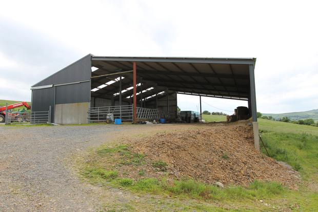 The holding at Borrisoleigh comes with extensive farm buildings including this 5,760 sq ft shed