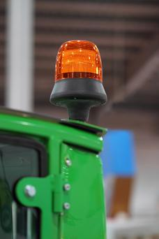 Warning light on the roof of the tractor to attract the attention of other road users