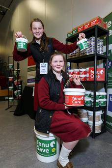 Kate and Annie Madden with their range of products from FenuHealth