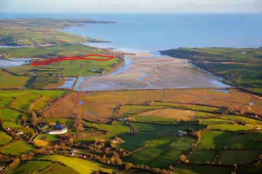 The 21ac (outlined in red) is located close to Inchydoney beach near Clonakilty.