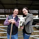 John Fagan and Claire Marshall pictured ahead of RTE's Big Week on the Farm. John runs sheep, beef, dairy drystock and some tillage on 400ac.
