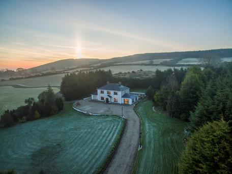 The property stands on 133ac, including 80ac of forestry, near Newtownmountkennedy in Co Wicklow.