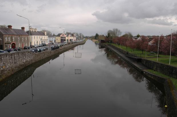 A view of the Grand Canal from the market town of Kilcock in Co Kildare.