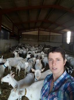 Alyson McKnight pictured on the family farm which is home to over 700 goats.