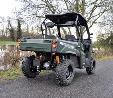 The Quadix Trooper can pull up to 800kgs and has a payload of 400kgs.