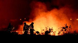 A gorse fire in Co Galway.