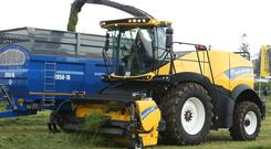 A new Holland Forage cruiser in action at The FTMTA Grass & Muck Show 2016. Photo: Damien Eagers