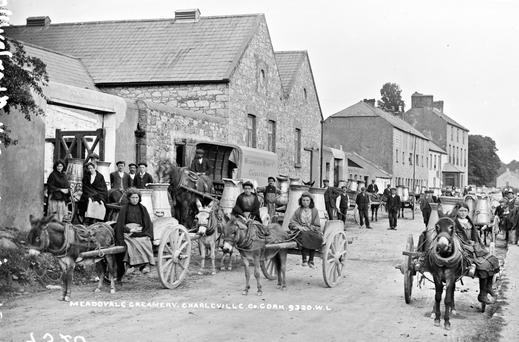 Meadowvale creamery, Charleville, Co Cork circa 1916. Photo: National Library of Ireland.