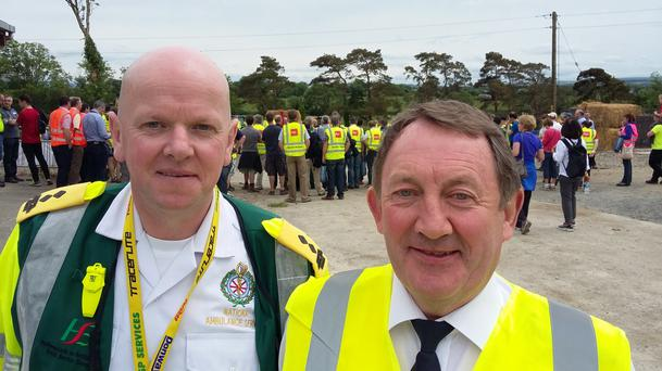 Donal Crowley National Ambulance Service (left).