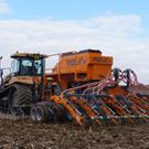 Mzuri demonstrates its 6m one pass drill used in conservation tillage.