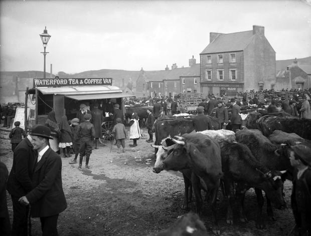Market day at Ballybricken Green, Waterford in May 1910