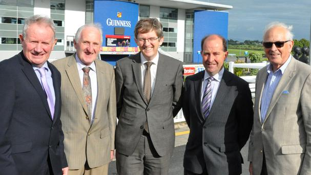Pictured at the launch of Limerick Show were Richard Kennedy, chairman, Aidan Liston, Cattle Committee, Liam Woulfe, MD, Grassland-agro, Pat Byrne, Agricultural Advisor, Bank of Ireland, and Pat Walsh, Cattle Committee.
