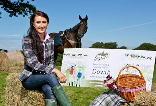 Champion point-to-point rider Aileen O'Sullivan at the launch of the Point-to-Point & Country Fair at Dowth on October 30