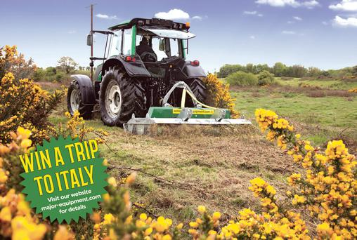 To celebrate their 40th birthday, Major Equipment International Ltd has launched its Win A Trip to Italy photo competition ahead of this month's National Ploughing Championships.