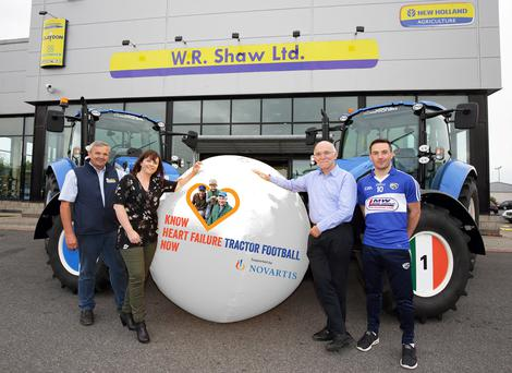 At the launch of the Know Heart Failure Now campaign were (l-r) Billy Shaw, managing director, WR Shaw Ltd; Orlagh Harrington, Croi Heart Failure project manager; Prof. Ken Mc Donald, Consultant Cardiologist, St. Vincent's Hospital Dublin, and Niall Donagher, Laois senior footballer.